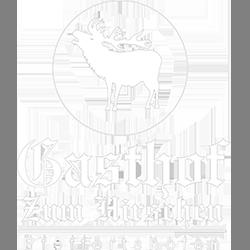 Logo weiß klein - Gasthof zum Hirschen