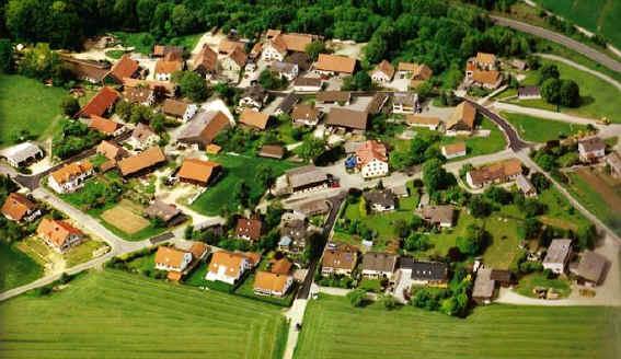 Luftbild Pfeffershofen 1 - Gasthof zum Hirschen